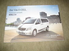 Mercedes vito e-cell recuadro auto & combi folleto brochure de 9/2012, 18 páginas