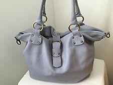 TED BENSON Light Lavender  Pebbled Leather XL Shoulder Hobo Bag