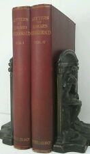 1894~LETTERS OF EDWARD FITZGERALD~2 Volumes~Antique Red Book Lot~Very Old Set