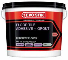 2 XEvo-Stik Concrete Floor Tile Adhesive Grout Ready Mixed Large 5Litre New GREY