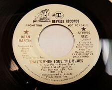 DEAN MARTIN That's When I See The Blues/ Gentle On My Mind PROMO 45 Reprise 0812