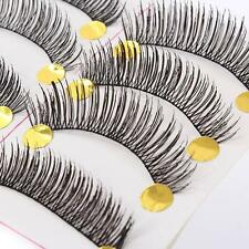 10 Pairs Handmade Soft Long Curl False Eyelashes Natural Fake Eye Lashes Make up
