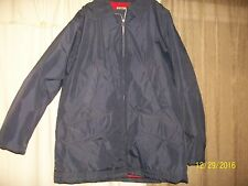 Vintgage Lee Outerwear Quilted Lined, Waterproof, Windproof Jacket W/Hood Size L