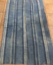 """Vintage African,Dogon Indigo Dyed Fabric/Hand Woven Cotton Strips/38""""x62"""""""