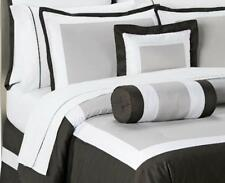 KING - Bed Bath & Beyond - Boulevard Black, Khaki & White SHAM & COMFORTER SET