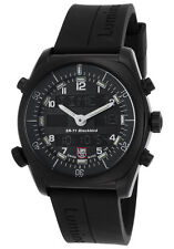 NEW Luminox Men's SR-71 Blackbird Multi-Function Black Rubber Strap Watch 9041
