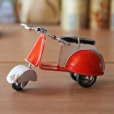 Vintage Mini Metal Motor Scooter Model Shelf Sitter Decor Ornament SET OF 4
