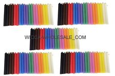 """LOT OF 100 ASST COLOR Chime Spell Candles Mini 4"""" Pagan Wicca Ritual FREE SHIP"""