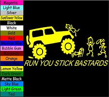 JEEP RUN YOU STICK BASTARDS FAMILY VINYL DECAL STICKER LAPTOP MACBOOK TABLET