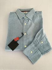 VINTAGE 55 linea LUXURY BASIC chemise homme Oxford céleste 100% coton slim