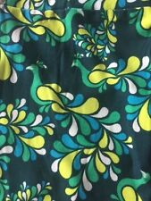 Lularoe leggings whimsical peacocks greens blue yellow cute TC Tall Curvy