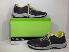 Vionic Action Emerald Womens Size 9 Wide Dark Grey Sneakers Walking Shoes ZG-162