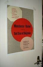 Manchester United Red Star Belgrade Munich Repro Poster