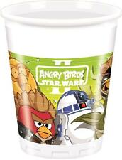 CLEARANCE Star Wars Angry Birds Party Plastic Cups x 8