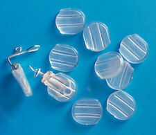 100 large plastic comfort sleeves for clip on earrings