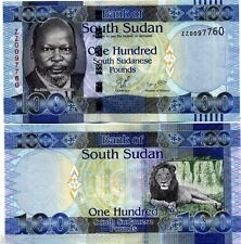 South SUDAN 100 POUNDS P10 2011 *ZZ* ELEPHANT UNC CURRENCY AFRICA MONEY BANKNOTE