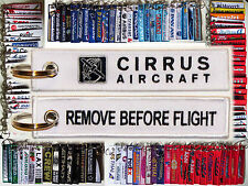 Cirrus Aircraft keychain keyring tag Remove Before Flight SR20 SR22 SF50