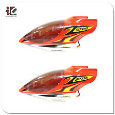 2X RED HEAD COVER CANOPY SKY KING HCW 8500 RC HELICOPTER SPARE PARTS HCW8500-26