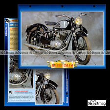 #123.01 Fiche Moto RENE GILLET 250 A 51 1954-1956 Classic Motorcycle Card