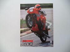 advertising Pubblicità 1985 MOTO MORINI 350 K2