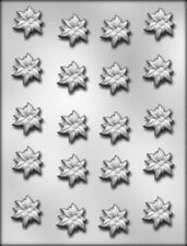 POINSETTIA BITE SIZE CHRISTMAS CHOCOLATE CANDY MOLD MOLDS (20) CUPCAKE TOPPERS