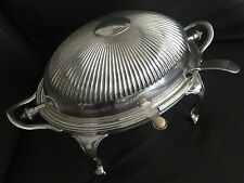 Superb Antique 1890s James Dixon & Sons Silver Plated Dome Shape Tureen & Ladles