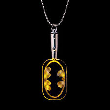 Batman DC Comics LED Light Up Dog Tag w/Ball Neck Chain Necklace Pendant Dogtag
