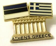 Pin Spilla Olimpiadi Athens 2004 Greece/Estonia Flags