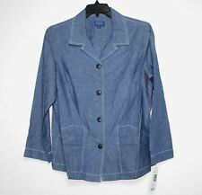 Pendleton - 1X - NWT $148 - Blue Denim-Color Chambray Cotton Shirt Jacket