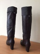 Chanel Brown Boots Size 37, Uk 4 Lovely