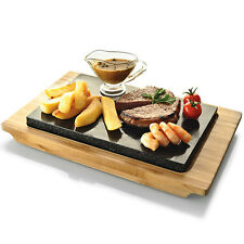 Typhoon Hot Stone & Bamboo Serving Set | Steak Hot Plate, Raclette