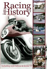 Racing into History - 1958 59 & 62 (New DVD) Motorcycle Racing TT Sidecar Norton
