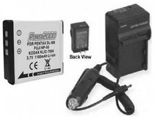 Battery + Charger for Kodak PLAYSPORT Video ZX3 M2008