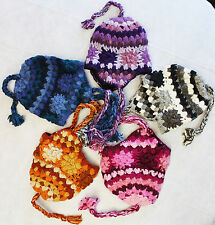 R685 Wholesale Lot Gorgeous Hand Knitted Ear Flap Woolen Hat/Cap Made in Nepal