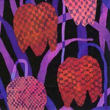 Marimekko GERDA red FRITILLARY paper table 33cm square lunch napkins 20 in pack