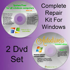 Drivers Recovery Restore for HP Pavilion dv9000 Repair Windows 8 7 Vista XP Disc