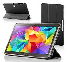 In Pelle Nera Pieghevole custodia Cover per Samsung Galaxy Tab S 8.4