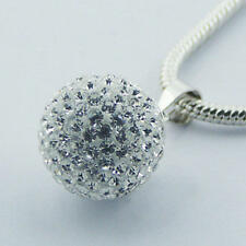 USA Seller Sparkling Ball Pendant Sterling Silver 925 Best Deal Jewelry Gift
