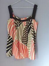 Zara Basics Women Tank/cami Patterned Size L