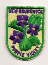 SOUVENIR  PATCH -  PROVINCE OF  NEW BRUNSWICK - PURPLE VIOLET