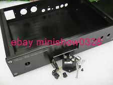 Aluminium DAC Chassis Enclosure Case w/ LCD diaplay for weiliang ES9018 XLR