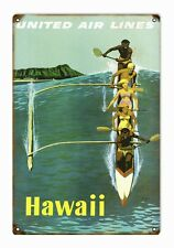 United Airlines Hawaii Travel Advertisement Sign