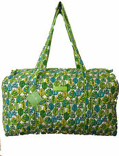 Vera Bradley Large Duffel in Lime's Leaves with Solid Green Interior - NWT