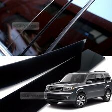 Glossy Black B C Pillar Post UV Coating Cover Trim 6Pcs For HONDA 2009-16 Pilot