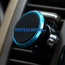 Blue Mobile Phone GPS Car SUV Magnetic Air Vent Mount Bracket Cradle Holder Clip