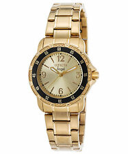 Invicta 0550 Women's Angel 18K Gold Plated Stainless Steel Champagne Dial