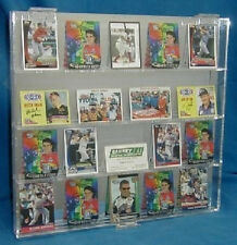 Sports Card Display Case Holds 24 Mirror Back Acrylic New in Box Made in the USA
