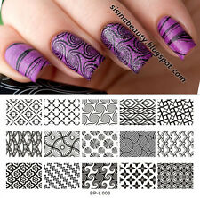 BORN PRETTY Nail Art Stamp Plate Large Designs Image Template L003 12.5 x 6.5cm