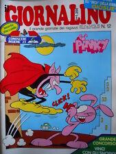 GIORNALINO n°12 1986 Pinky Vita da Cani T. Sclavi Gavioli Nicoletta + inse[G261]