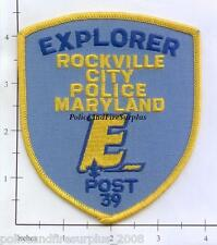 Maryland - Rockville City Police Explorer Post MD Police Dept Patch